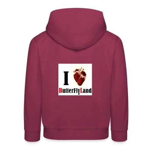 I love Butterflyland - Pull à capuche Premium Enfant