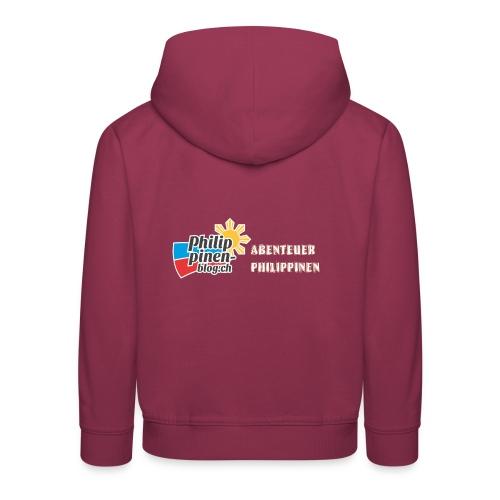 Philippinen-Blog Logo deutsch orange/weiss - Kinder Premium Hoodie