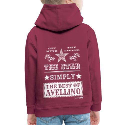 1,03 The Star Legend Avellino Bianco - Felpa con cappuccio Premium per bambini