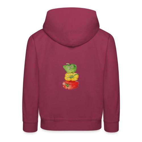 PAPRIKA REGENBOGEN - Kinder Premium Hoodie