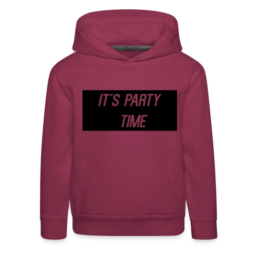 It s Party Time png - Kids' Premium Hoodie