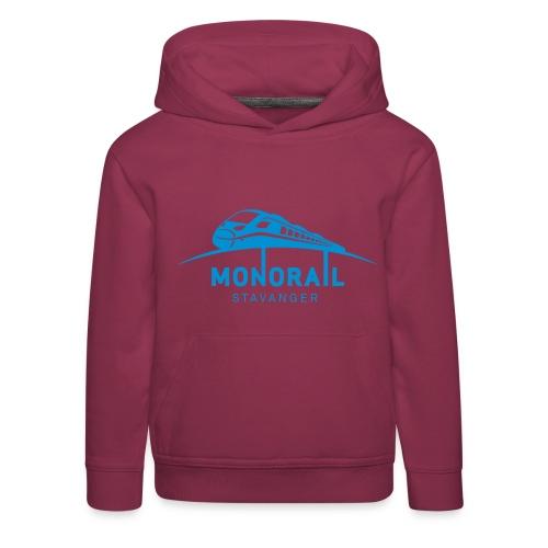 Monorail_Blå - Premium Barne-hettegenser
