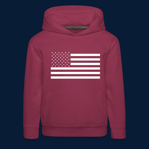 Stars and Stripes White - Kinder Premium Hoodie