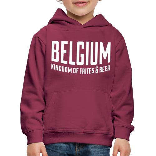 Belgium kingdom of frites & beer - Pull à capuche Premium Enfant