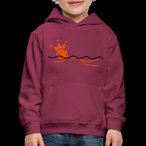Zwemkoning - Kinderen trui Premium met capuchon