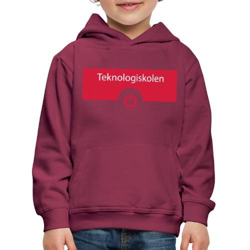 TeknologiskolenLogo - Premium hættetrøje til børn