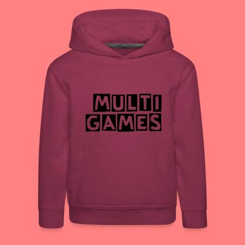 Multi Games Zwart - Kinderen trui Premium met capuchon