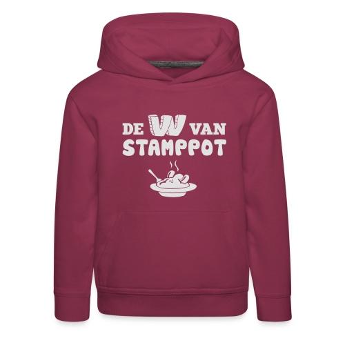 De W van Stamppot - Kinderen trui Premium met capuchon