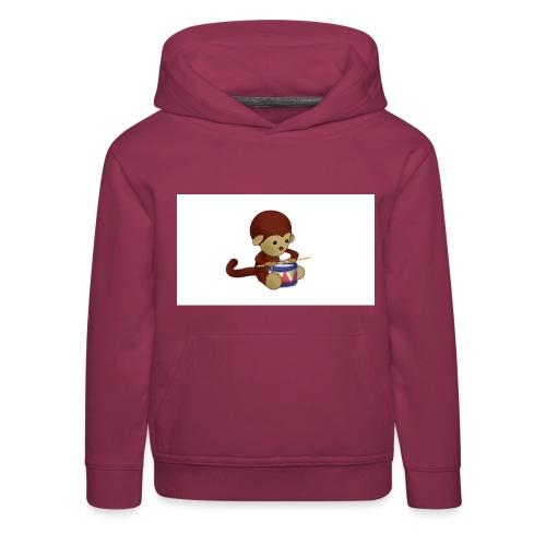 Monkey Drums - Kids' Premium Hoodie