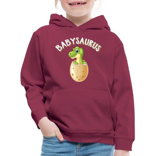 Babysaurus Vater und Kind Dinosaurier Partnerlook - Kinder Premium Hoodie