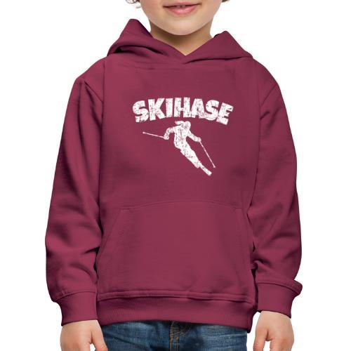 Skihase (Vintage/Weiss) Ski Skifahrerin - Kinder Premium Hoodie