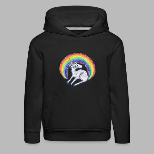 Reluctant Rainbow - Kids' Premium Hoodie