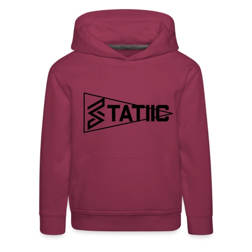 statiic text png - Kids' Premium Hoodie
