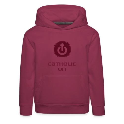 Catholic On - Sudadera con capucha premium niño