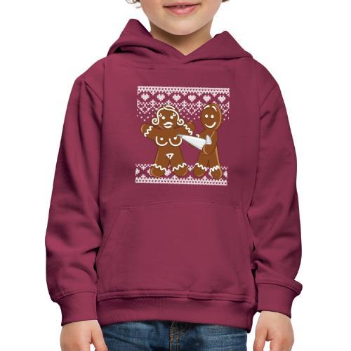 christmas - gingerbread love - Lebkuchen - Kinder Premium Hoodie