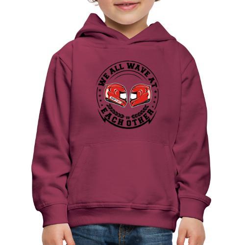 WE ALL WAVE - NOIR - Pull à capuche Premium Enfant
