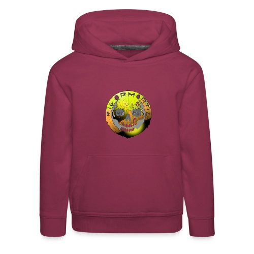 Rigormortiz Metallic Yellow Orange Design - Kids' Premium Hoodie