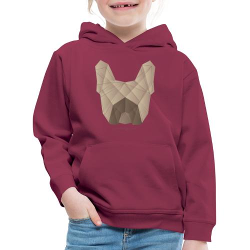 Geometric Frenchie fawn - Französische Bulldogge - Kinder Premium Hoodie