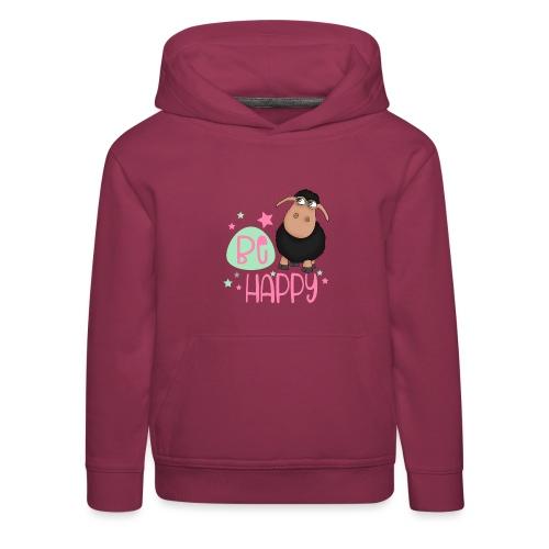 Schwarzes Schaf - be happy Schaf Glückliches Schaf - Kinder Premium Hoodie