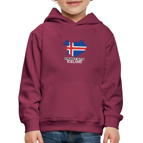 Straight Outta Iceland country map - Kids' Premium Hoodie
