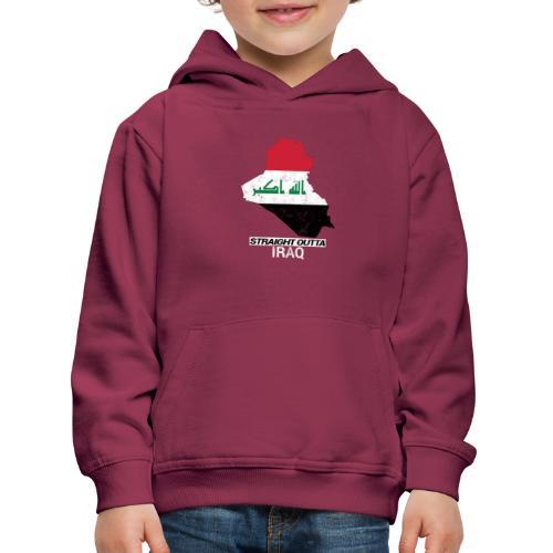 Straight Outta Iraq country map & flag - Kids' Premium Hoodie