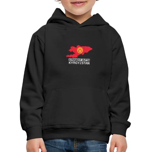 Straight Outta Kyrgyzstan country map - Kids' Premium Hoodie