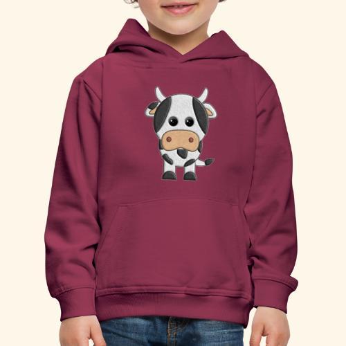 vaquita de peluche vaca cow - Sudadera con capucha premium niño