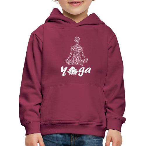 yoga fiore bianco namaste pace amore hippie fitness - Felpa con cappuccio Premium per bambini