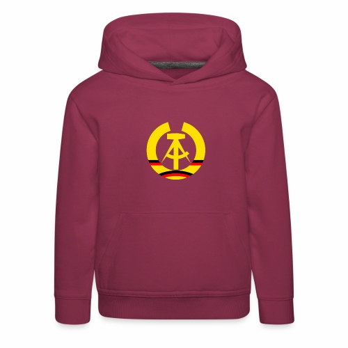 DDR coat of arms stylized (single) - Kids' Premium Hoodie