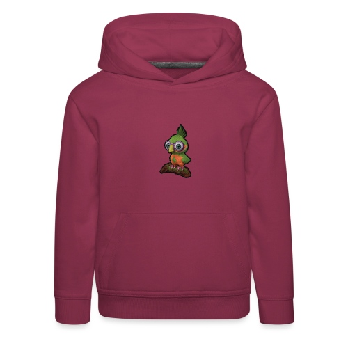 A bird sitting on a branch - Kids' Premium Hoodie