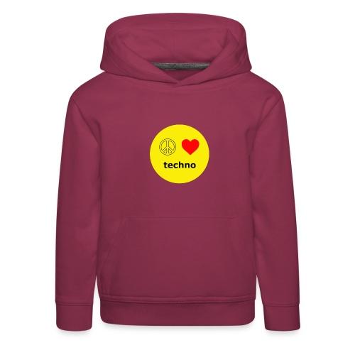 paz amor techno - Sudadera con capucha premium niño