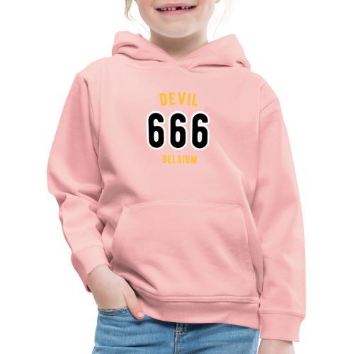 666 devil Belgium - Pull à capuche Premium Enfant