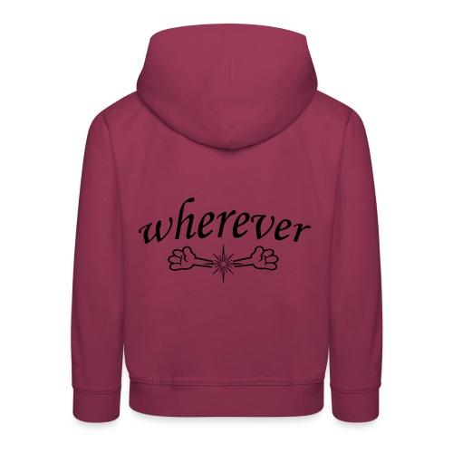 Abrazo wherever - Sudadera con capucha premium niño
