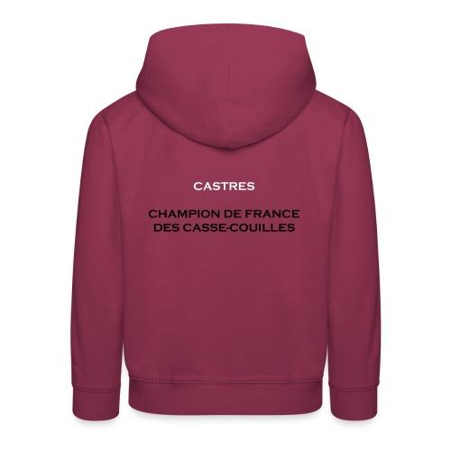 design castres - Pull à capuche Premium Enfant