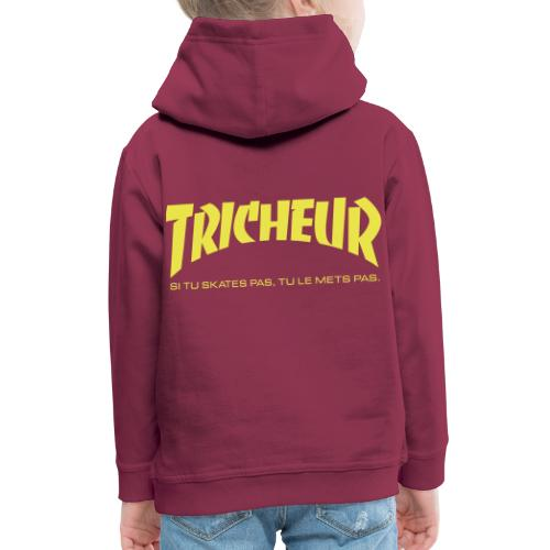 skateboard trasher tricheur - Pull à capuche Premium Enfant