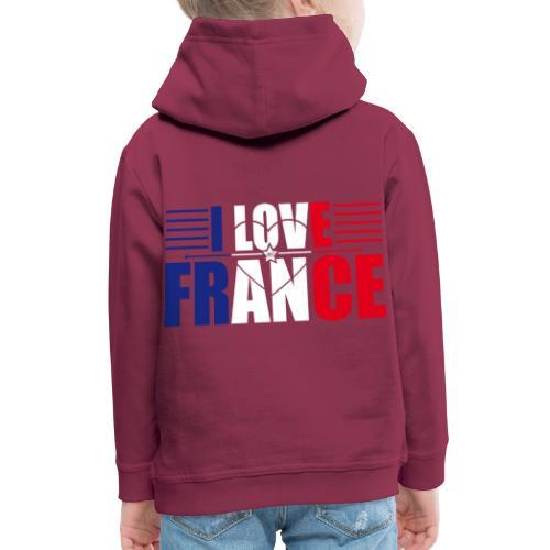 love france - Pull à capuche Premium Enfant