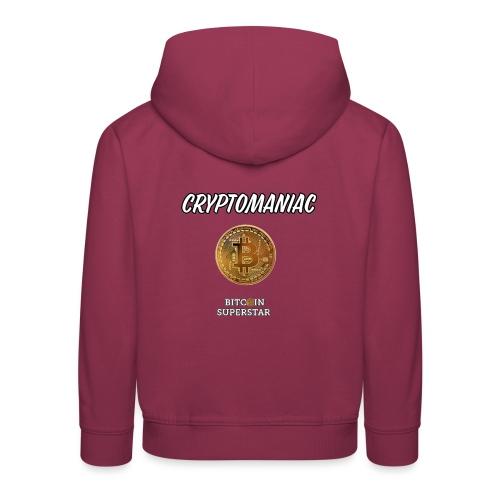 Cryptomaniac - Felpa con cappuccio Premium per bambini
