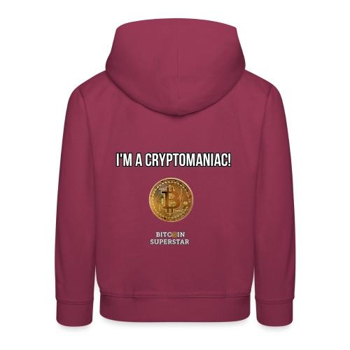 I'm a cryptomaniac - Felpa con cappuccio Premium per bambini