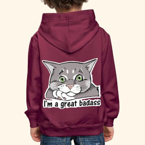 Nice Dogs CATS - Felpa con cappuccio Premium per bambini