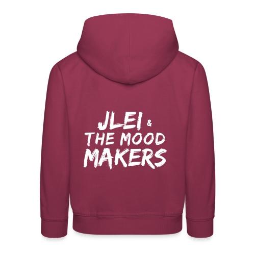 Jlei & The Mood Makers Schriftzug Weiss - Kinder Premium Hoodie