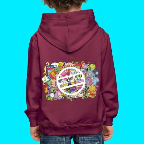 maglia logo doodle - Felpa con cappuccio Premium per bambini