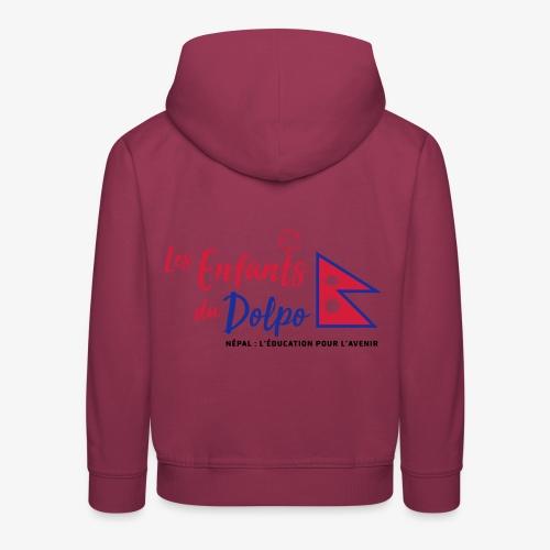 Les Enfants du Doplo - Grand Logo Centré - Pull à capuche Premium Enfant