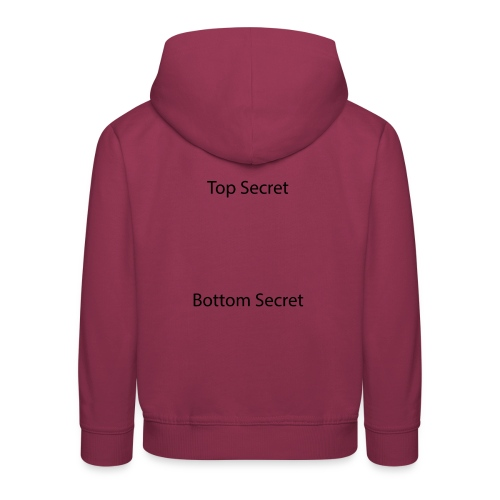 Top Secret / Bottom Secret - Kids' Premium Hoodie