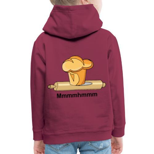 Brioche française et rouleau à patisserie - Pull à capuche Premium Enfant