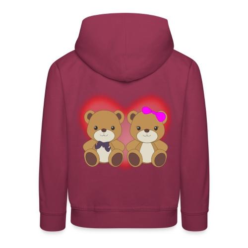 Orsetti con cuore - Felpa con cappuccio Premium per bambini