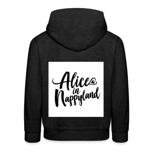 Alice in Nappyland Typography Black 1080 1 - Kids' Premium Hoodie