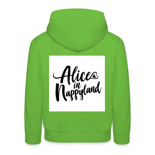 Alice in Nappyland Typography Black 1080 1 - Kids' Premium Hoodie