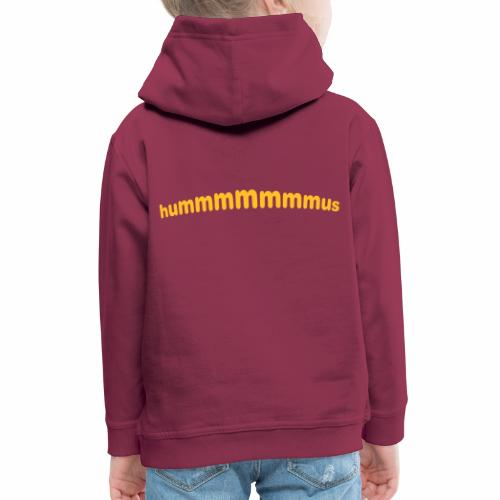 Hummus - Sudadera con capucha premium niño