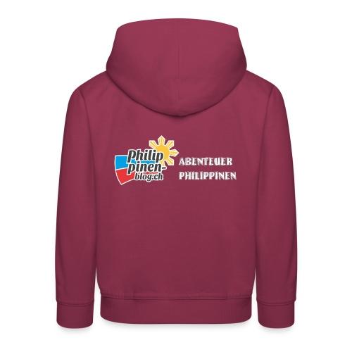 Philippinen-Blog Logo deutsch schwarz/weiss - Kinder Premium Hoodie