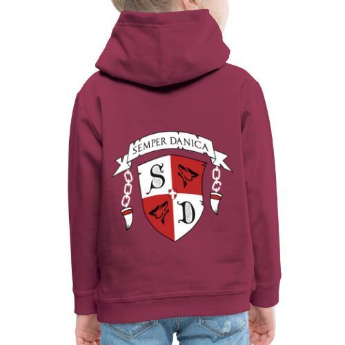 SD logo - hvide lænker - Premium hættetrøje til børn